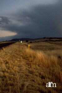 Highway 180 on a dark and stormy nightJanuary 2013