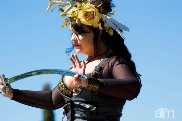 My beautiful friend Imelda performing a sword dance.
